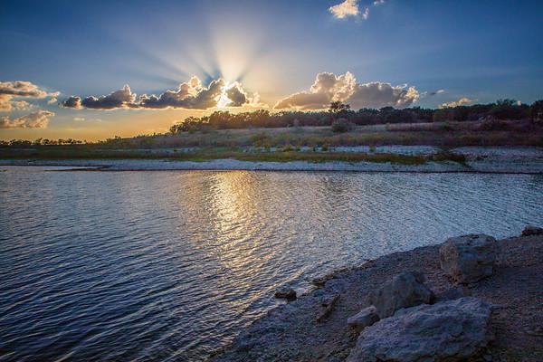Lake Georgetown Sunset