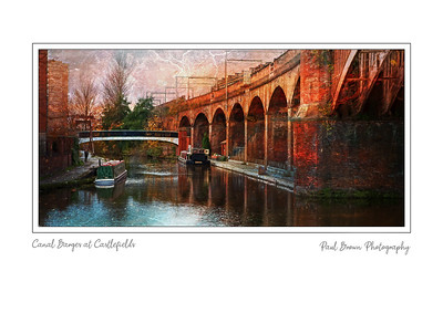 Canal Barges at Castlefields Framed A3
