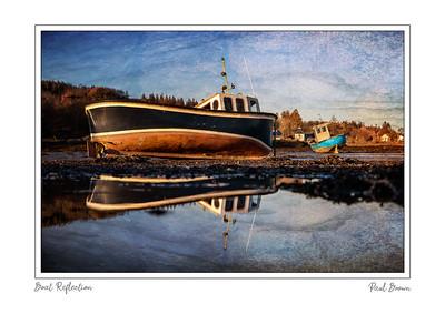 Boat Reflection framed A3