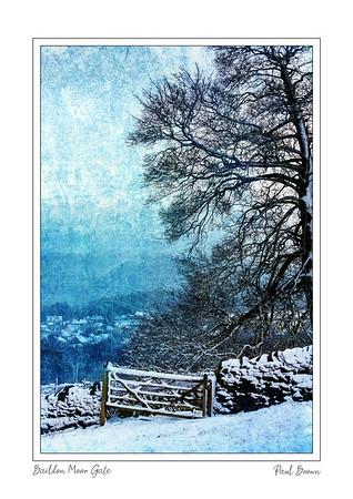 Baildon Moor Gate BW Framed A3