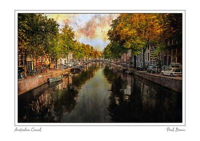 Amsterdam Canal Framed A3
