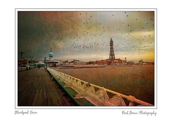 Blackpool Tower framed A3