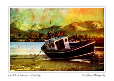 Boat at low tide Ardvasar Framed A3
