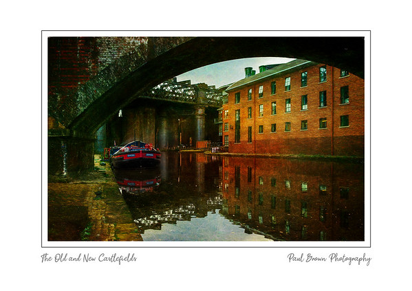 Old an New at Castlefields framed A3