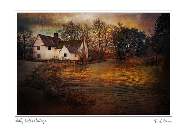 Willy Lotts Cottage Framed A3