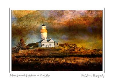 Eilean Sionnach Lighthouse Cottage Framed A3