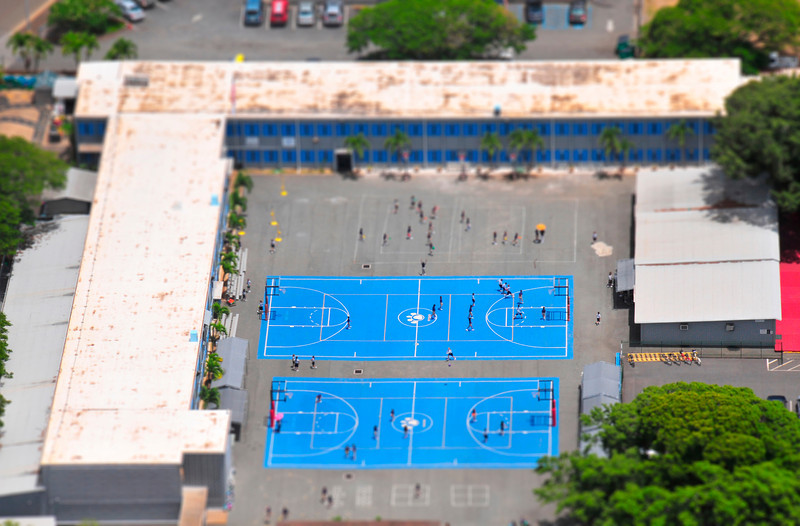 Basketball Courts, Waikiki - Honolulu, Hawaii