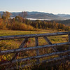 early morning in Campton NH.  Not sure if the fence is too much, but I liked it anyway.<br /> <br /> Why it's in the best of 2010 - because it's pretty fab all around.  The early morning light is so warm and soft on the background, but the post shades the rest of the gate and provides a contrasting color balance.  Not to mention those great little shadows the vine throws across the post. I also like the way the grass in the immediate foreground is lit up.
