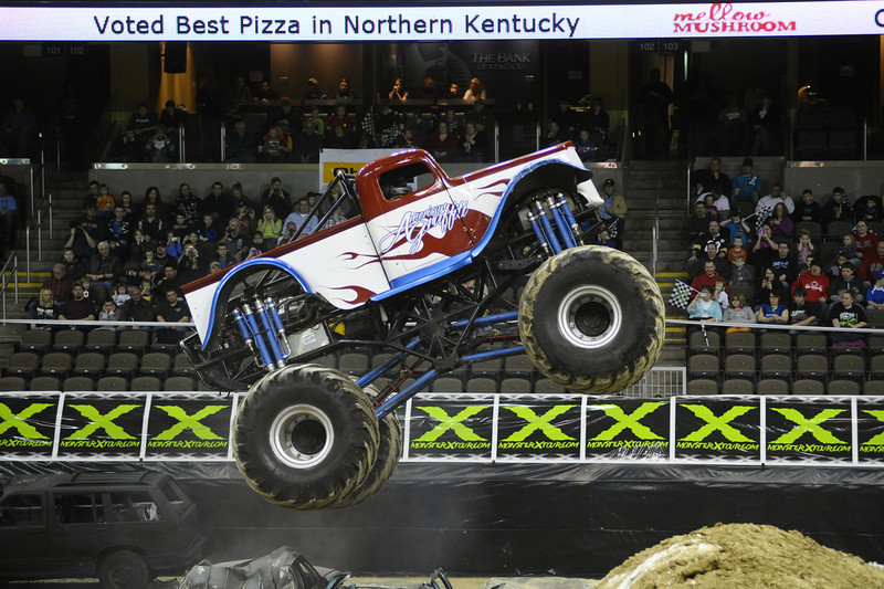 American Graffiti with driver Justin Cluster during the Monster X Tour at The Bank of Kentucky Center in Highland Heights, Kentucky.