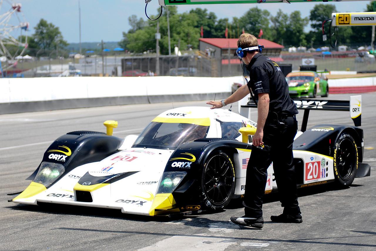 American Le Mans series driver   during practice at Mid-Ohio in Lexington,Ohio.