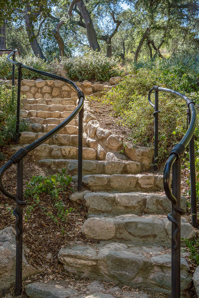 Stairway leading to Hope's Garden