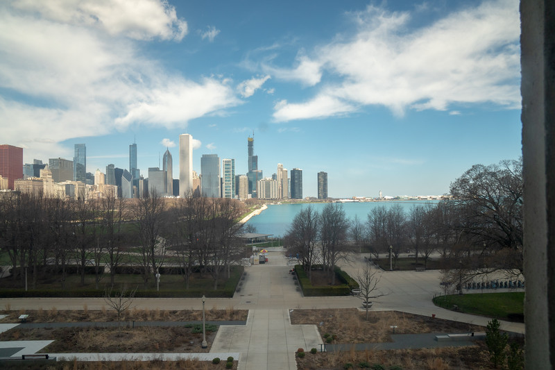 Chicago skyline as seen from the Field Museum