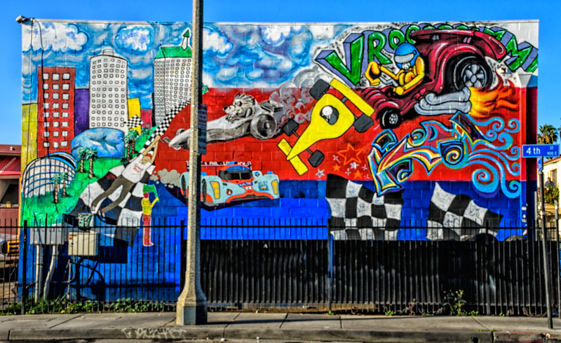 Mural Depicting the Long Beach Grand Prix