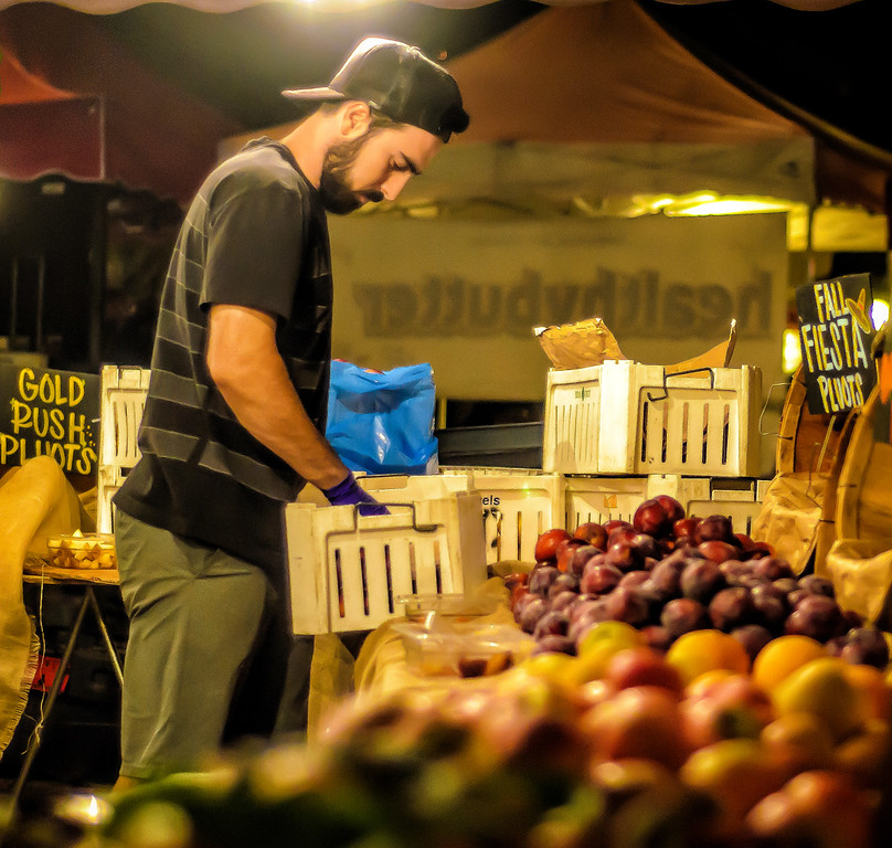 Tuesday Night Farmers Market Plums