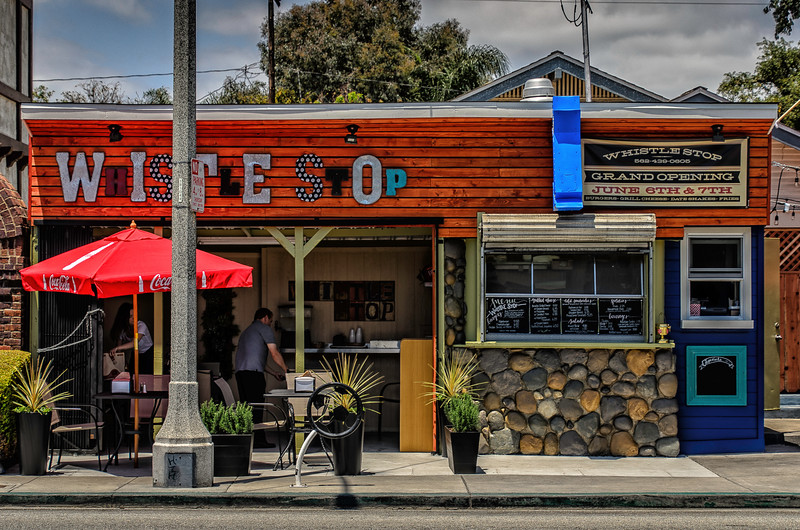 Whistle Stop: 4th Street, Long Beach, California