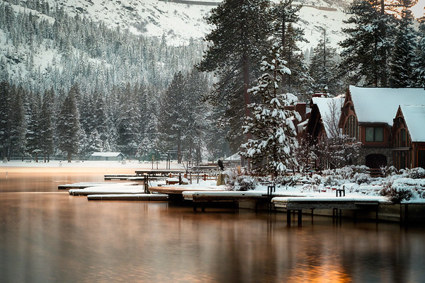 On Peachy Pond in Winter
