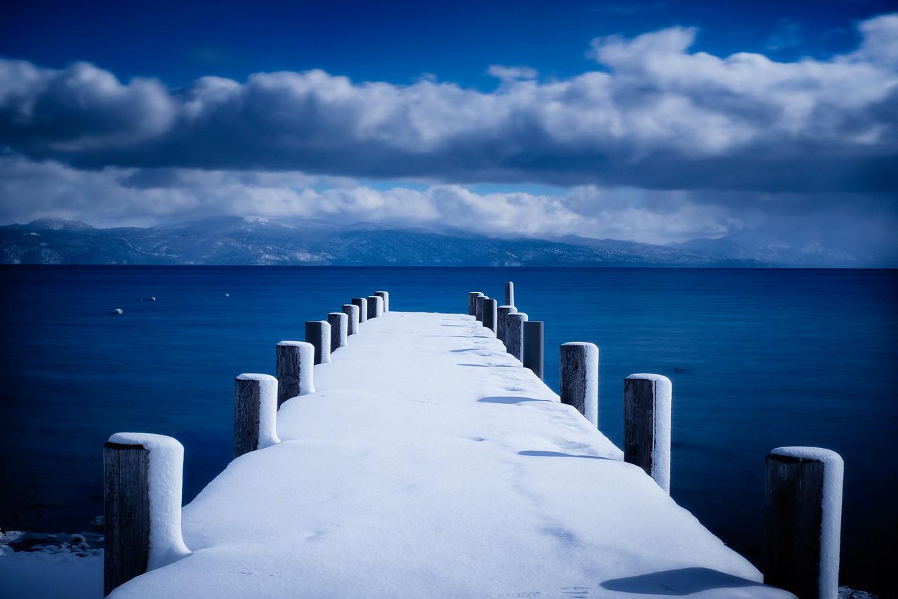 Blue. Tahoe. Pier.