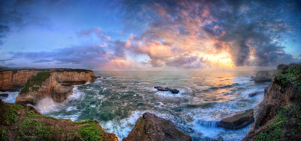 Shark Fin Cove - Panorama