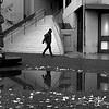 Single Pedestrian through the Financial District