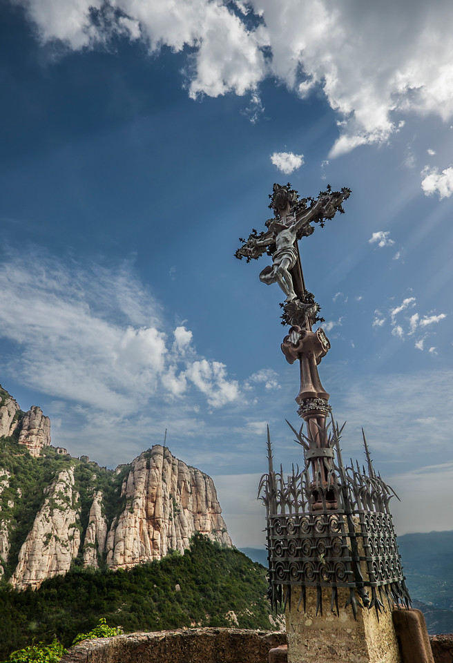 Montserrat Crucifix on the Mountain
