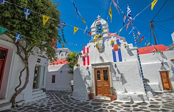 Church on Mykonos, Greece