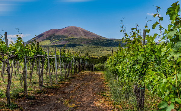 From Wikipedia: Mount Vesuvius is a somma-stratovolcano located on the Gulf of Naples in Campania, Italy, about 9 km east of Naples and a short distance from the shore. It is one of several volcanoes which form the Campanian volcanic arc.