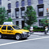 NYC taxi on the move