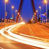 Traffic on willemsbridge in Rotterdam, Holland