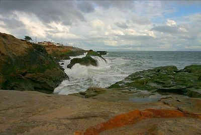 Storm on the coast of California.