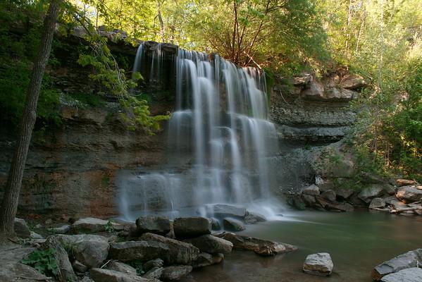 Rock Glen Waterfalls in Summer