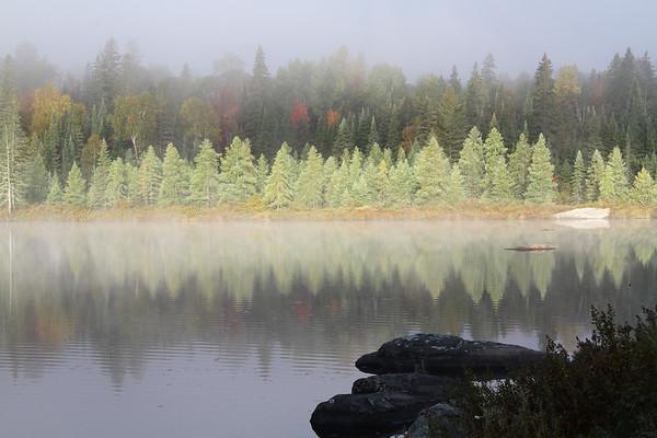 Early Morning mist near Hay Lake, Ontario