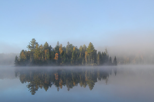 Early Morning mist near Hay Lake, Ontario