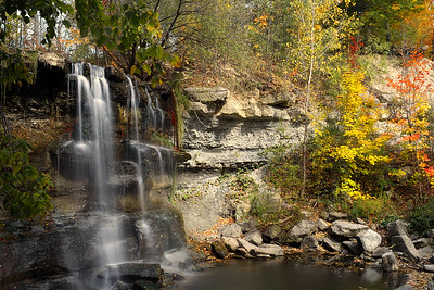 Rock Glen Falls in Autumn