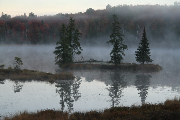 Early Morning mist at Hay Lake, Ontario