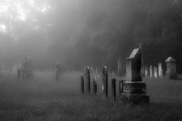 Misty Morning at the Cemetary