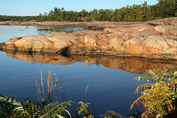 Rock Reflections at Killarney, Ontario.