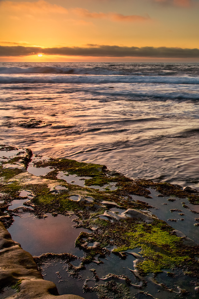 "La Jolla Sunset 24""x36"" Stretched Canvas $199.99"