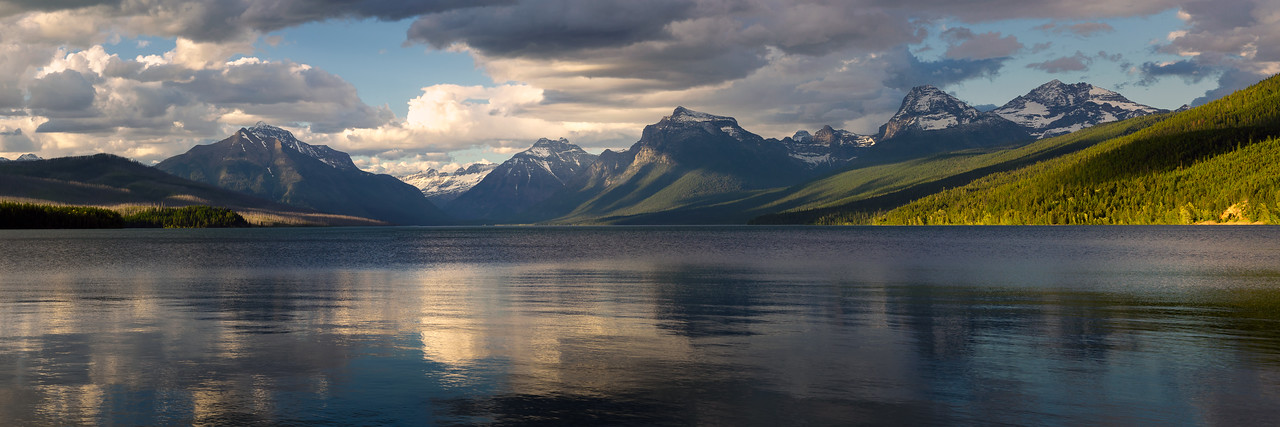 "Glacier National Park Lake McDonald Pano 24""x72"" - please contact me for special order"