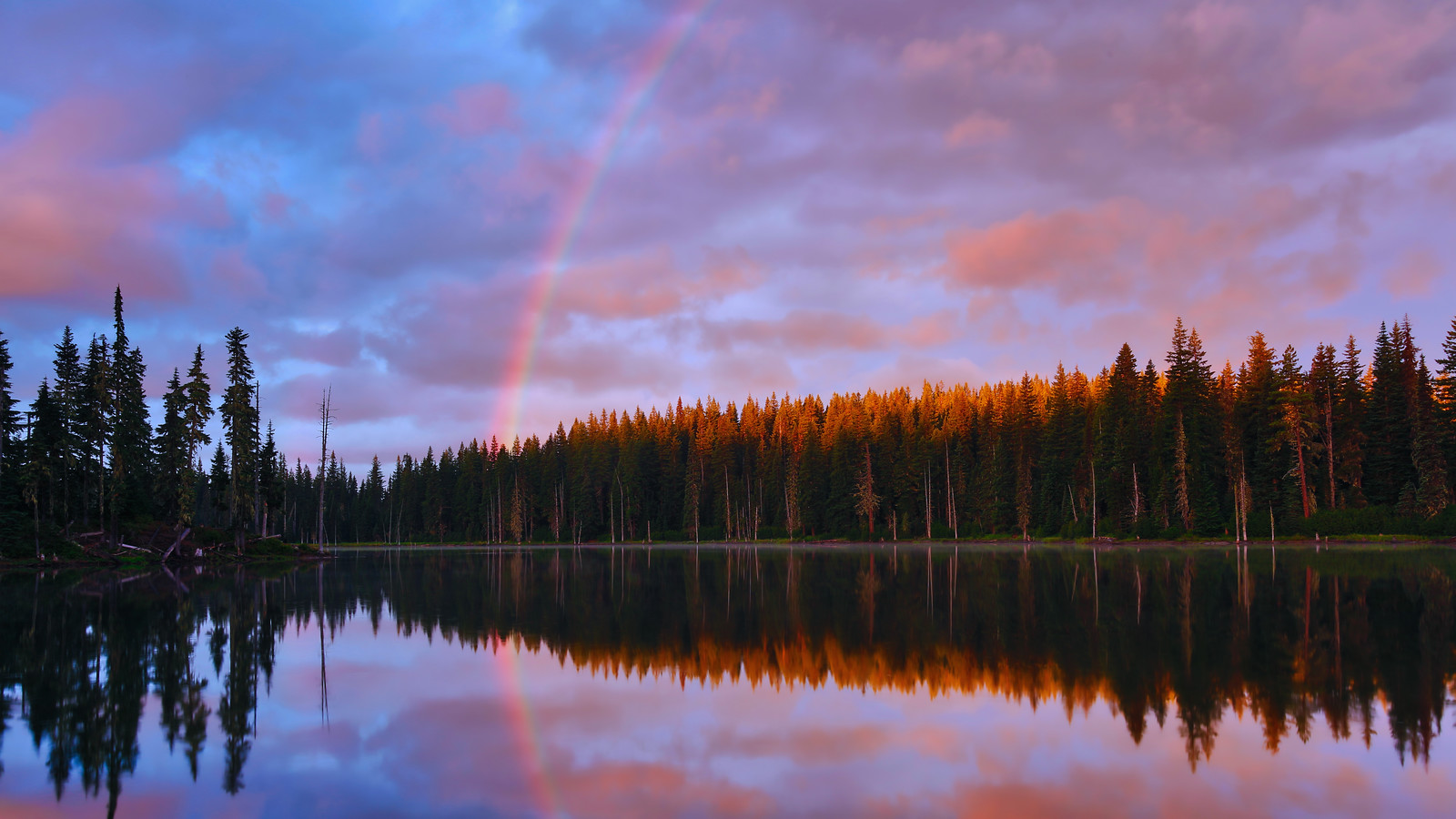 ~Breaking Dawn~<br /> <br /> An Alpine Lake deep in the remote Gifford Pinchot National Forest.