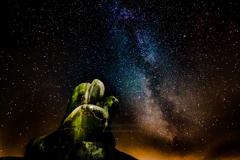 The Milky Way at Ramshaw Rocks