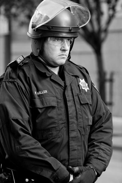 Officer M. Miller, Oakland Riots, 2010