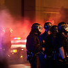 Police Move Into Crowd After Firing Tear Gas, Oakland Riots