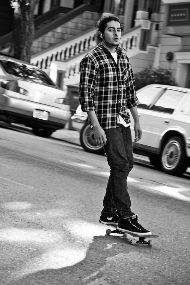 Skating Down Haight Street