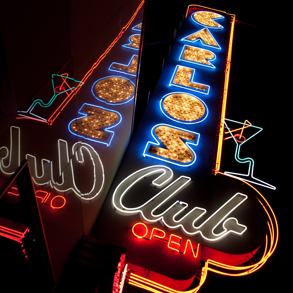 Driving Late Nights and Neon Signs