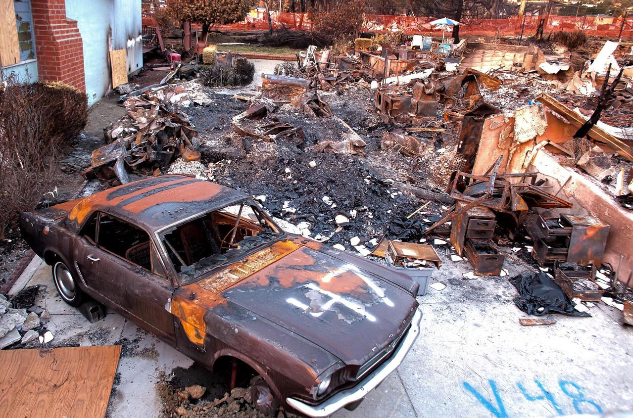 Burned Home, San Bruno Gas Line Explosion, 2010