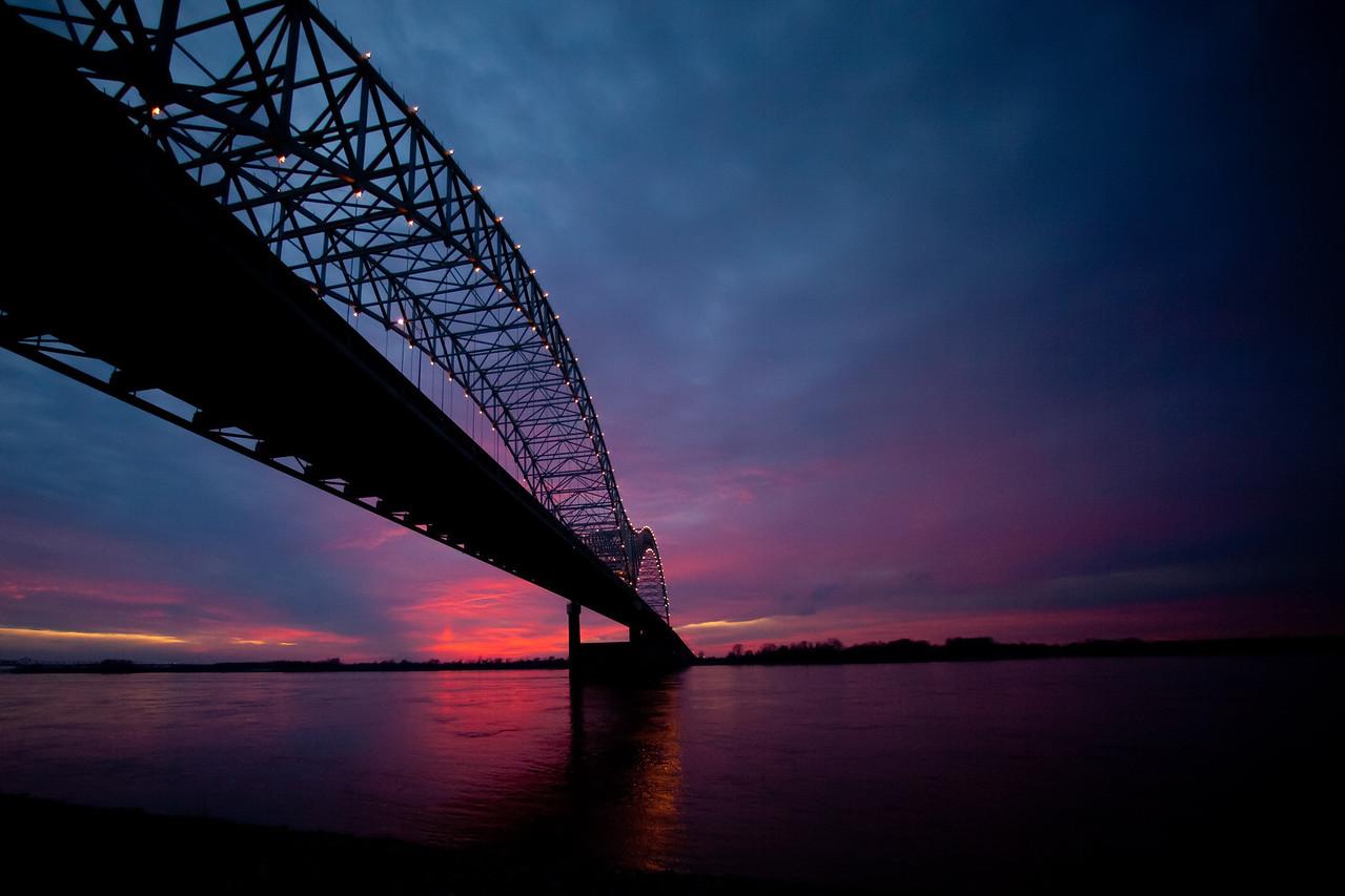 Sun Sets Over the Mississippi