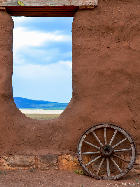 Adobe Wall with a View