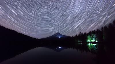 Star Trails over Lake Trillium