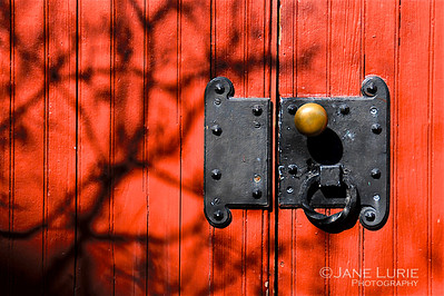 Red Door and Shadows. Charleston, SC.