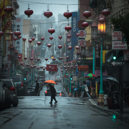 Rainy Day, Grant Street, Chinatown, SF